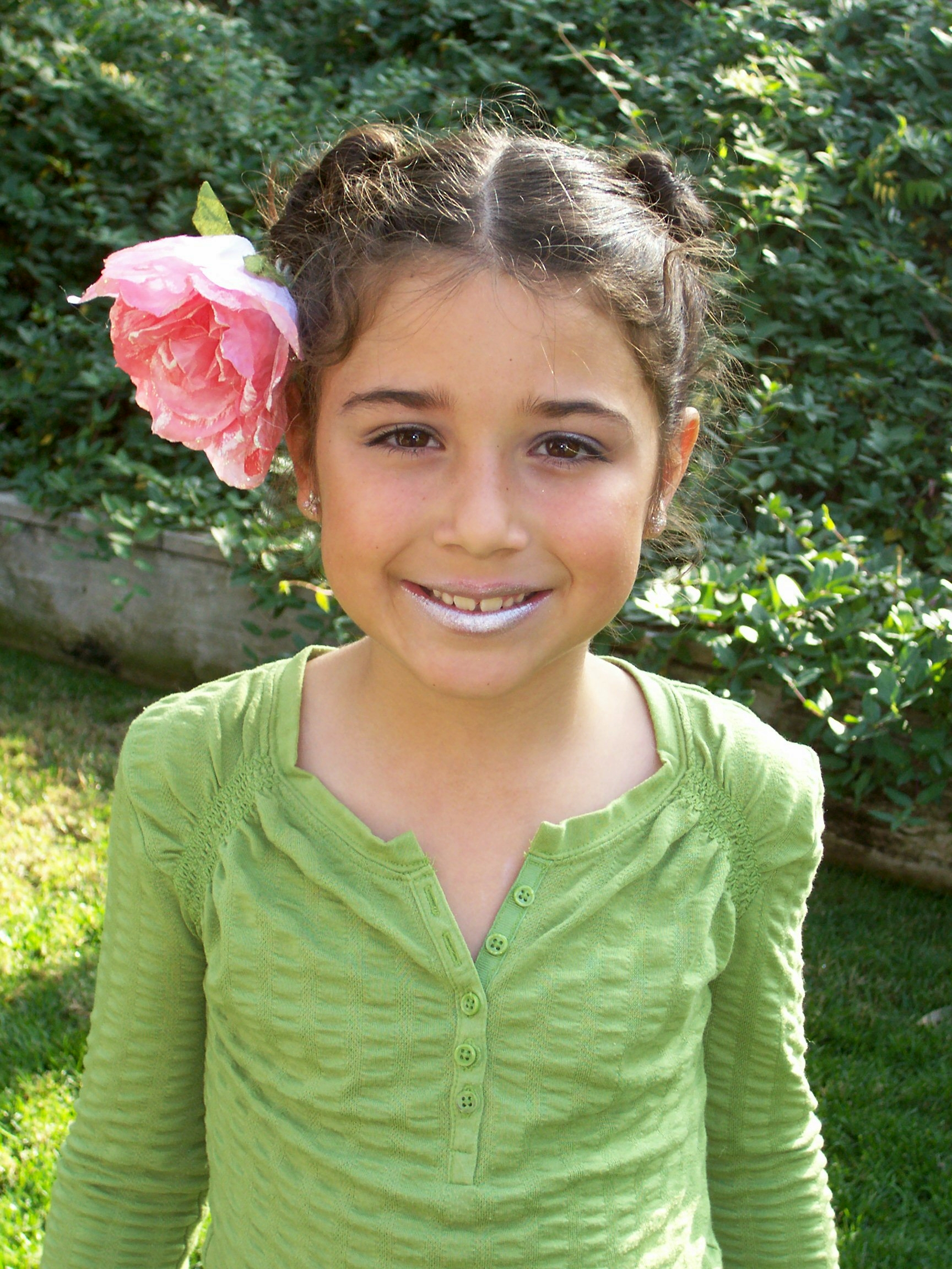 Little Girl with Flowers