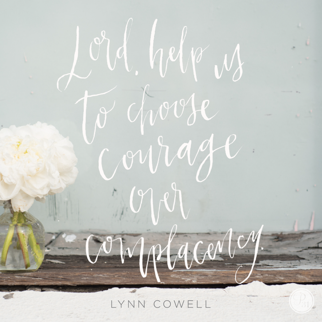 Let's create a chain of courage, ladies!