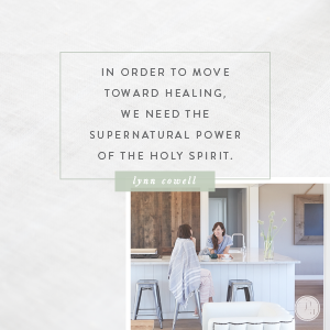 Healing comes from the Holy Spirit