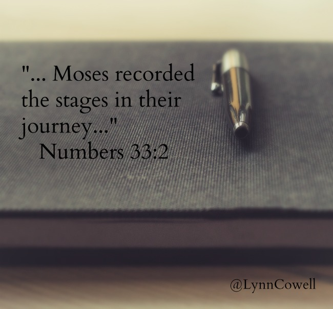 God commanded Moses to make a record all the Israelites journey. Maybe we should record all He has done for us as well.