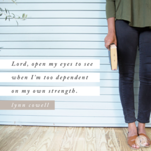 Are you too dependent on your own strength?