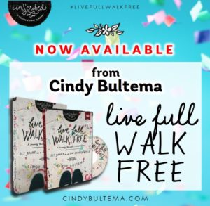 Cindy Bultema's live full; WALK FREE