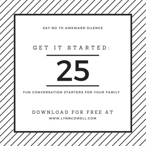 Experiencing awkward family silence? Help is on the way!