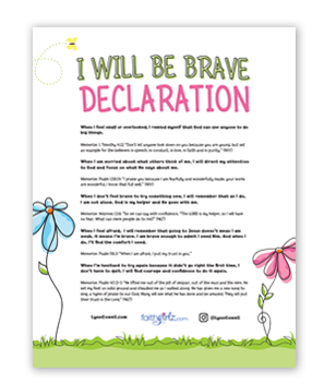I Will Be Brave Declaration