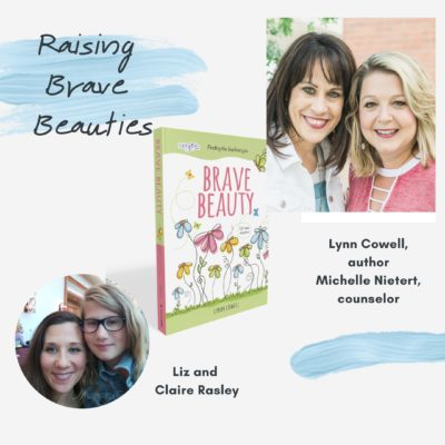 """This week on Raising Brave Beauties, @lynncowell and I are joined by Liz Rasley (@lrasley) and her daughter Claire for a motivating episode on growing up and taking positive risks. Liz is the author of Levity: Humor and Help for Hard Times"""" and a preschool teache! She can be found at her blog www.lizrasley.com. We're talking about: 🎨 Having an artistic, creative mom 👂🏻 How to listen more and talk less 🌱 Taking risks that allow your child to grow ✝️ God made you as you are for a reason and you are His creation"""