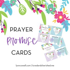 These beautiful 7 Prayers Cards will help you to pray God's word and truth over you or someone you love!